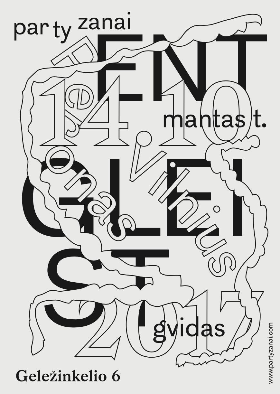 Entgleist event poster by Tadas Karpavicius