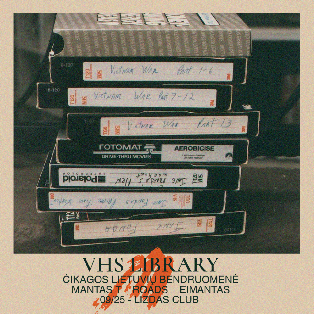 VHS Library event poster