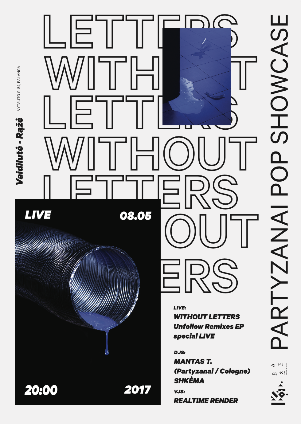 without letters partyzanai pop showcase cover art